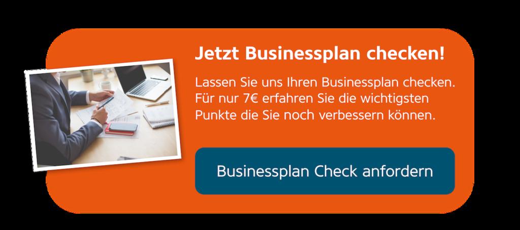 Jetzt Businessplan Check für 7 Euro anfordern.