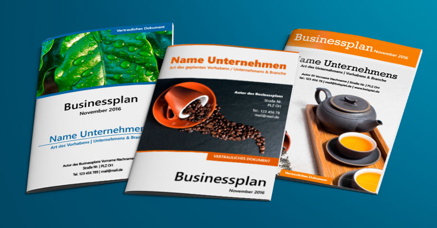 Businessplan Deckblatt