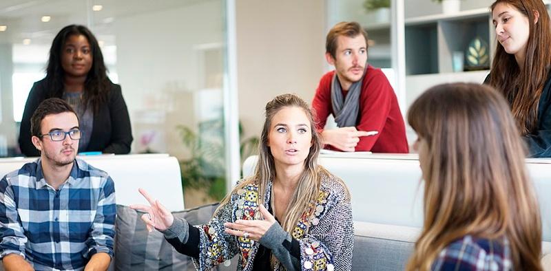 Mitarbeiter im Start-up